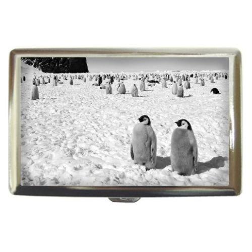New Baby Emperor Penguins Custom Business Name Card Money Credit Card Holder Box Case front-874057