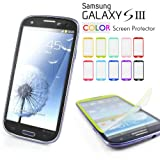 Mercury Color Screen Protector for Samsung Galaxy S3 GT-i9300 - Fits Verizon, AT and T, T-Mobile, Sprint - Black