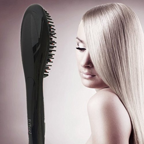 Efloral Brush Hair Straightener ,Detangling Hair Brush for Faster, Instant Magic Silky Straight Hair Styling,zero Damage, Anion Hair Care, Anti Scald, Massage Straightening Irons