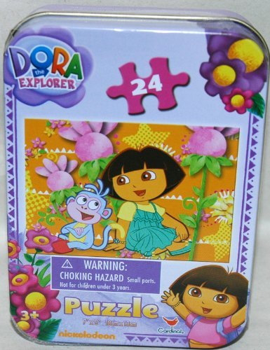 Dora the Explorer 24-Piece Jigsaw Puzzle in a Tin, Dora and Boots Talking