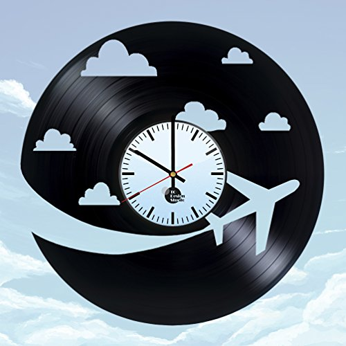 Airplane-Sky-Airline-Gravity-Flying-Handmade-Vinyl-Record-Wall-Clock-Fun-gift-Vintage-Unique-Home-decor-Art-Design-Retro-Interier