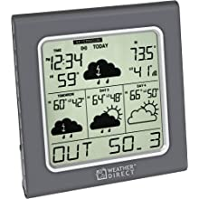 La Crosse Technology Weather Direct WD-3105U 4-Day Internet-Powered Wireless Forecaster, Titanium