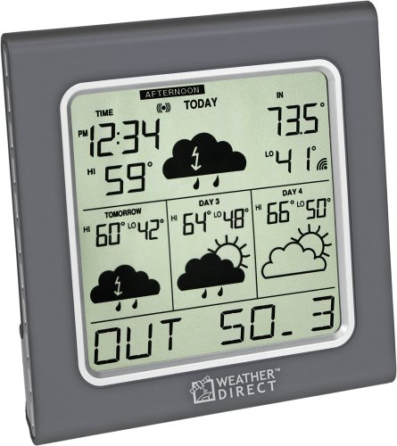 Direct WD-3105U 4-Day Internet-Powered Wireless Forecaster, Titanium