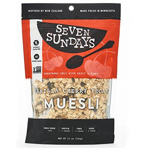 Seven Sundays Muesli - Vanilla Cherry Pecan - Non-GMO Certified, Gluten Free, Hot or Cold Breakfast Muesli {12 oz. pouches, 1 Count} (Gluten Free Muesli compare prices)