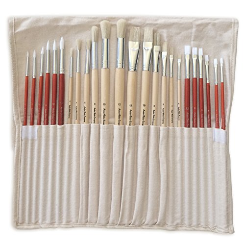Acrylic oil paint brush set of 24 for artists best for Best paint supplies