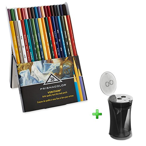 Sharpeners Prismacolor with Premier Verithin Colored Pencils 36 Pack, School Educational Supplies (Oil Pastel Colorless Blender compare prices)