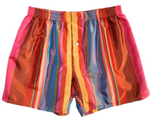 Fall Stripes Silk Boxers - XL - by Royal Silk - Silk Boxer Shorts