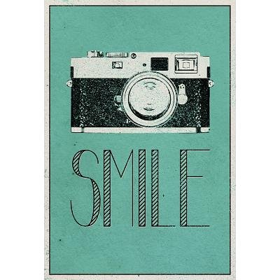(13×19) Smile Retro Camera Art Poster Print