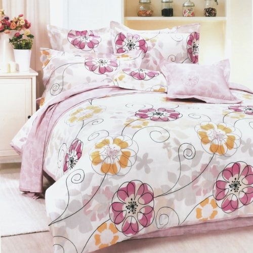 Blancho Bedding - [Sun Flowers] 100% Cotton 4PC