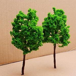 10Pcs Model Green Tree Train Set Scenery Landscape in Retail Package