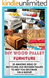 DIY Wood Pallet Furniture: 25 Amazing Ideas Of Recycling Old Wooden Pallets To Help You Decorate On A Budget: (Wood Pallet, DIY projects, DIY household ... projects for your home and everyday life)