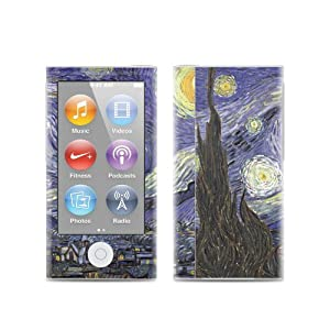 Starry Night Design Protective Decal Skin Sticker for Apple iPod Nano 7G (7th Gen) MP3 Player