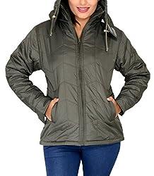 Romano Women's Water Wind Snow Resistant Green Jacket