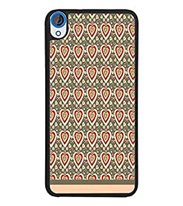 PrintDhaba Heart Pattern D-1598 Back Case Cover for HTC DESIRE 820 (Multi-Coloured)