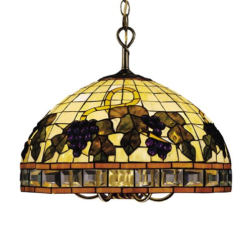 B000O72AI4 Landmark 212-TB Classic Tiffany 5/1-Light Chandelier, 16-Inch, Tiffany Bronze