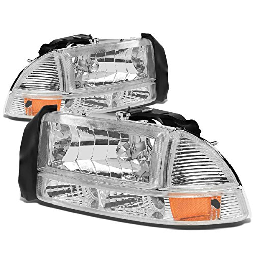 dodge-dakota-durango-4pcs-replacement-headlight-bumper-lights-kit-chrome-housing-amber-reflector