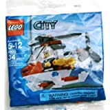 LEGO City Mini Figure Set #4900 Fire Helicopter Bagged