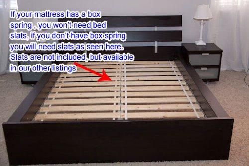 Ikea Hopen Queen Bed Frame Black Brown Bed Frames Online