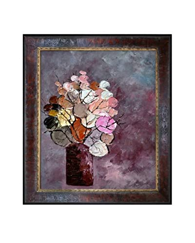 "Pol Ledent ""Still Life (452120)"" Framed Canvas Print"