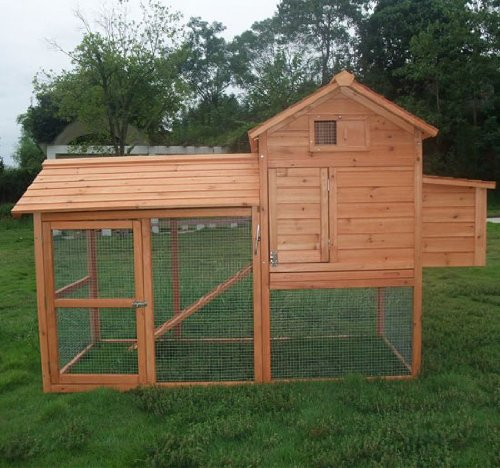 Pawhut Deluxe Backyard Chicken Coop / Hen House / Rabbit Hutch w/ Run