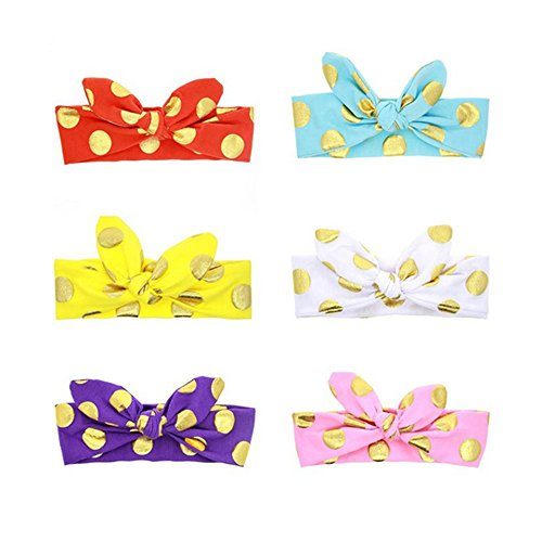 BiBang® Baby Girls Toddler Bow Headbands Turban Knot Rabbit Hairband Headwrap Headwear (Pack of 6) (type one) (Gift One Year Old Girl compare prices)