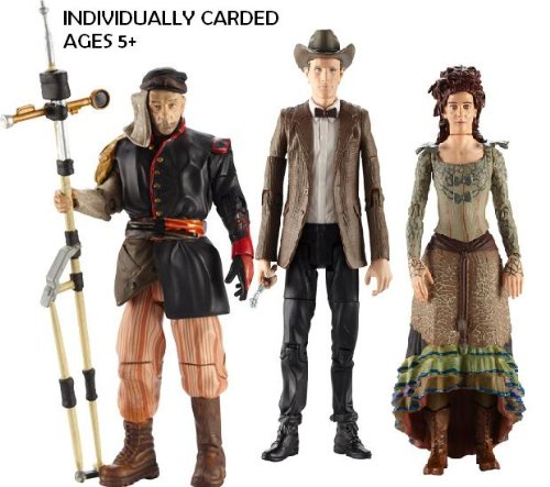 Picture of Character Options DOCTOR WHO SERIES 6 ACTION FIGURE SET: THE DOCTOR IN COWBOY HAT, IDRIS & UNCLE (B005F8YFSU) (Character Options Action Figures)
