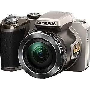 Olympus SP-820UZ iHS Digital Camera (Silver) (Old Model)