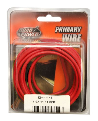 Coleman Cable 12-1-16 12-Gauge 11-Foot Automotive Copper Wire, Red