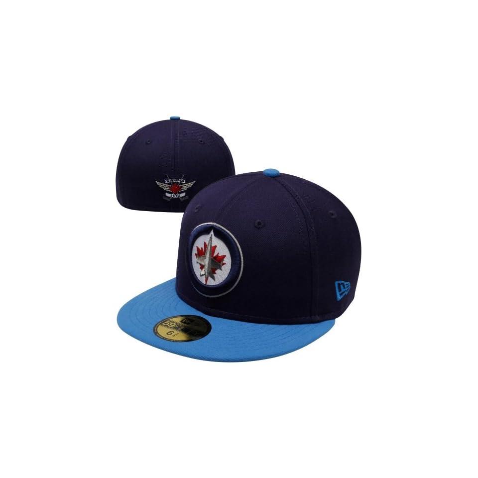 Winnipeg Jets hat New Era Winnipeg Jets 2 Tone 59FIFTY Fitted Hat Navy Blue Light  Blue cee3d9bd624a