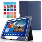 MoKo Samsung Galaxy Tab 3 10.1 Case - Slim Folding Case for Samsung Galaxy Tab 3 10.1 Inch Android Tablet, INDIGO (with Smart Cover Auto Wake / Sleep)