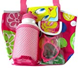 Looney Tunes Tweety Bird Tote Bag w/ Bottle and Sunglasses (Pink color)