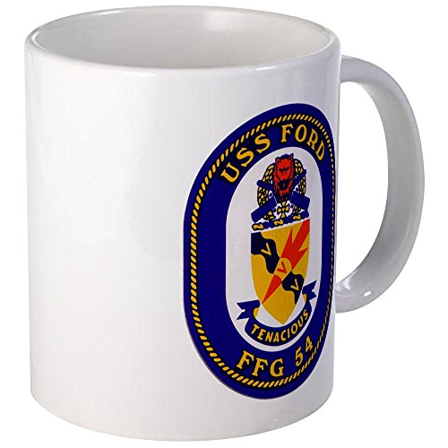 CafePress - USS Ford FFG-54 Navy Ship - Unique Coffee Mug, 11oz Coffee Cup (Uss Ford compare prices)
