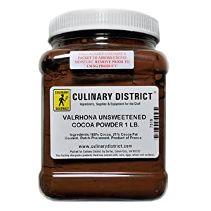 lowest price Valrhona Chocolate Cocoa Powder 100% cacao 1 lb