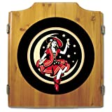 Trademark Miller Girl In The Moon Dart Cabinet Includes Darts/board