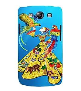 PrintVisa Fashion Parrot Girl Dress Design 3D Hard Polycarbonate Designer Back Case Cover for Samsung Galaxy S3 Neo