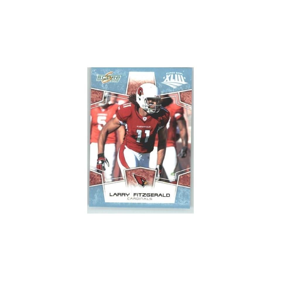 2008 Donruss   Score Limited Edition Super Bowl XLIII GLOSSY # 3 Larry Fitzgerald   Arizona Cardinals   2008 NFC Champion   (Serial #d to 250) NFL Trading Card