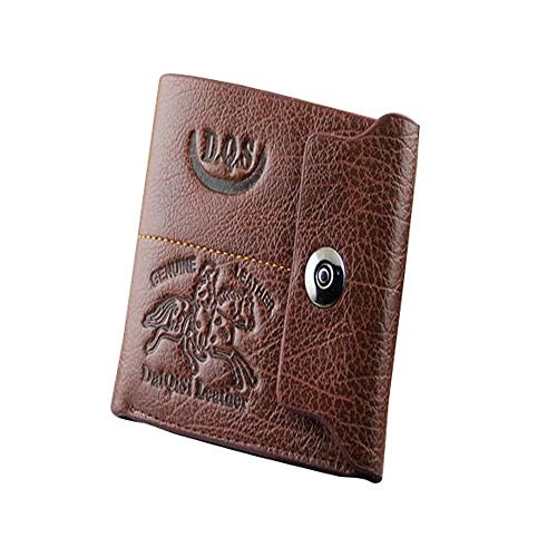 Vovotrade(Tm) Mens Leather Bifold Credit Id Card Holder Slim Purse Wallet (Coffee)