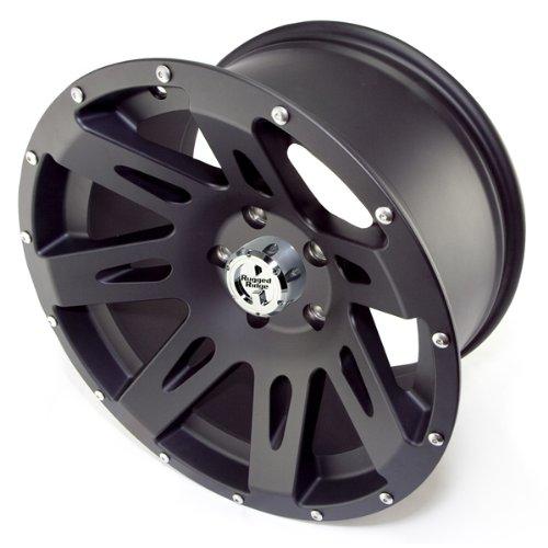 Rugged Ridge Aluminum Black Satin - 17 x 9 Inch Wheel