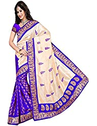Shefali Fabrics Women's Multi Color Bhagalpuri Cotton Printed Saree (3206,Multi,Free Size)