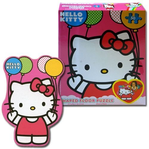 Hello Kitty Shaped Floor Puzzle - Kids Large Puzzle