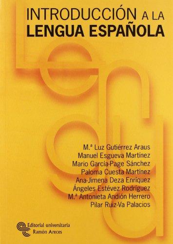 Introducción a la lengua española (Manuales)