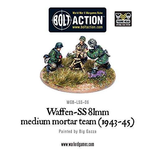 Warlord Games Bolt Action World War 2 German Waffen Ss 81mm Medium Mortar Team