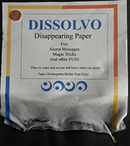 Dissolvo Disappearing Paper Magic Trick (7 Large Sheets)