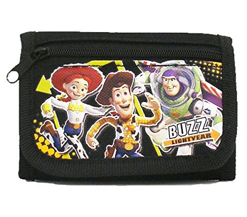 Black Toy Story Trifold Wallet - 1