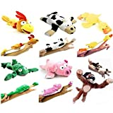 Xuuyuu 6pc Set of Slingshot Flingshot Flying Animals with Sound