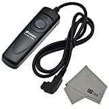 FitTek® Shoot RM S1AM Wired Shutter Release Remote Control with LED Indicating Compatible with Sony Alpha A77, A65, A57, A100, A200, A300, A350, A500, A550, A560, A580, A700, A850, A900, A55, A37, SLT A33, SLT A35, SLT A37, SLT A55, SLT A65, SLT a77