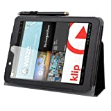 BIRUGEAR SlimBook Leather Folio Stand Case Cover with Travel Holder for E-Fun Nextbook Premium 8HD (NX008HD8G) - 8