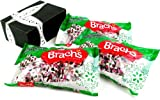Brachs Peppermint Christmas Nougats, 12 oz Bags in a Gift Box (Pack of 3)