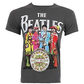 Official T Shirt THE BEATLES Grey Sergeant Sgt Pepper S