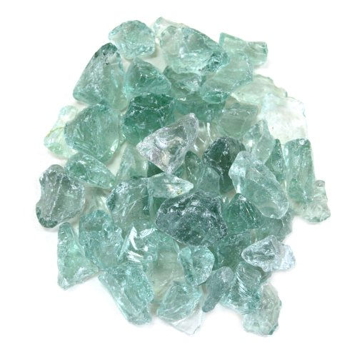 Koyal Wholesale Centerpiece Vase Filler Beach Decor Sea Glass, 1.5-Pound, Turquoise Blue/Aqua